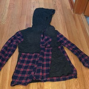 Urban outfitters flannel jacket with hood